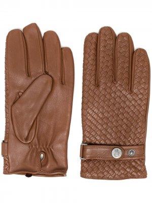 Перчатки с плетением Karl Lagerfeld. Цвет: коричневый