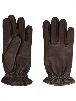 Перчатки с эластичными манжетами Orciani. Цвет: коричневый