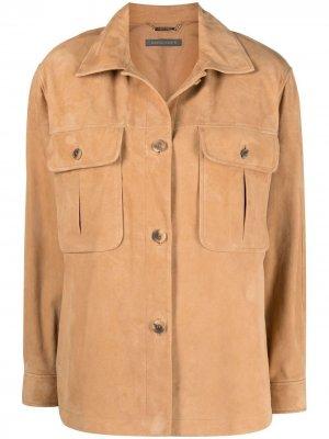Куртка-рубашка Alberta Ferretti. Цвет: нейтральные цвета