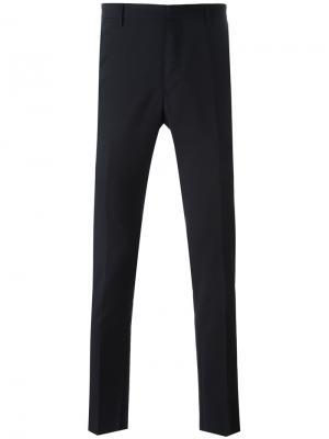 Классические брюки кроя слим Lanvin. Цвет: синий