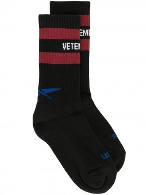 Logo print socks Vetements. Цвет: черный