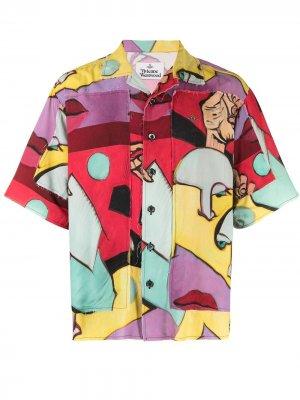 Рубашка с принтом Aloha One Fun September Vivienne Westwood. Цвет: зеленый