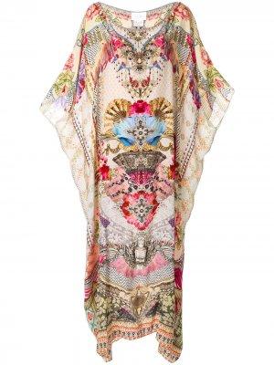 Платье-кафтан с круглым вырезом Camilla