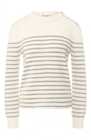 Пуловер Saint Laurent. Цвет: белый