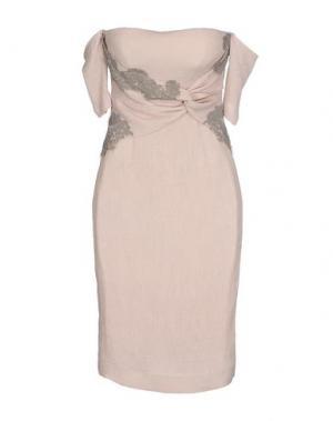 Короткое платье X'S MILANO. Цвет: светло-розовый