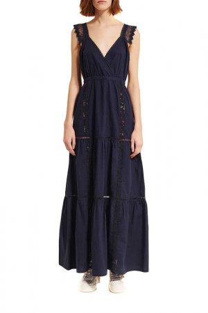 Платье SEMICOUTURE. Цвет: синий