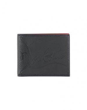 Бумажник CHRISTIAN LOUBOUTIN. Цвет: черный