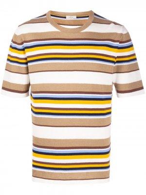 Полосатая футболка Altea. Цвет: нейтральные цвета