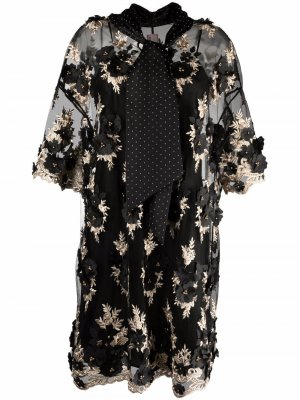 Кружевной жакет с цветочным узором Antonio Marras. Цвет: черный