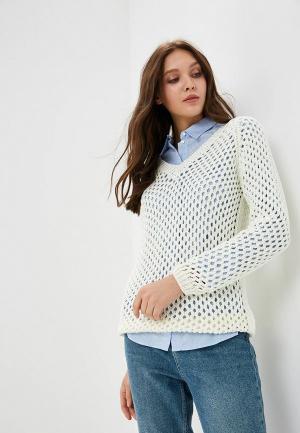 Пуловер MaryTes. Цвет: белый