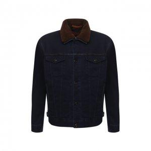 Комплект из куртки и жилета Cortigiani. Цвет: синий