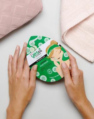 Грязевая маска для лица с успокаивающим действием Yes To Cucumber-Бесцветный