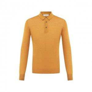 Поло из шерсти и шелка Gran Sasso. Цвет: жёлтый