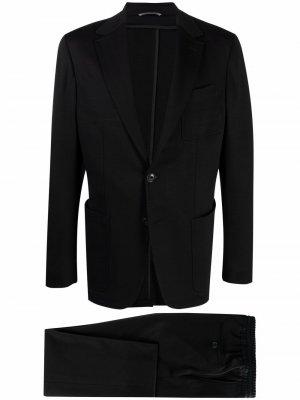 Костюм с однобортным пиджаком Canali. Цвет: черный