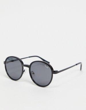 Черные солнцезащитные очки с круглой оправой в стиле унисекс Quay I See You Clip On-Черный Australia