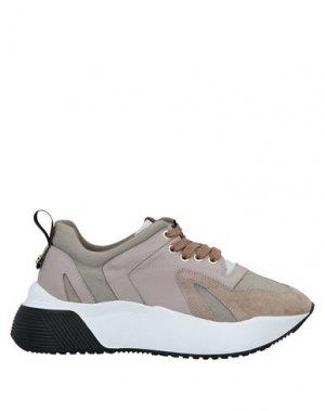Низкие кеды и кроссовки CESARE PACIOTTI 4US. Цвет: хаки
