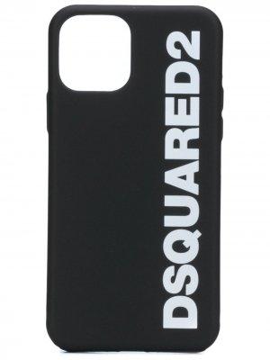 Чехол для iPhone 11 Pro с логотипом Dsquared2. Цвет: черный