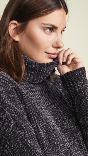 Chenille Sweater Blank Denim