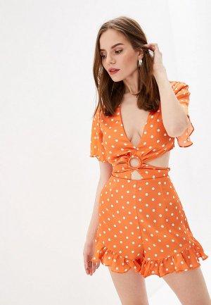 Комбинезон Glamorous. Цвет: оранжевый