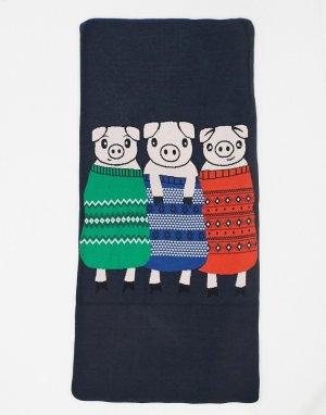 Темно-синее рождественское одеяло -Темно-синий ASOS DESIGN