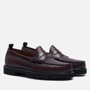 Мужские ботинки лоферы x G.H. Bass Textured Fred Perry. Цвет: бордовый