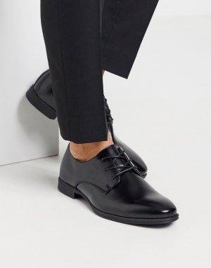 Черные строгие оксфорды -Черный New Look