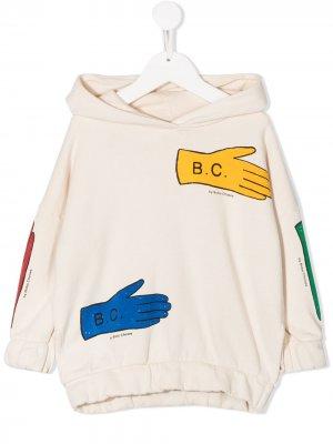 Толстовка Lost Gloves с капюшоном Bobo Choses. Цвет: белый