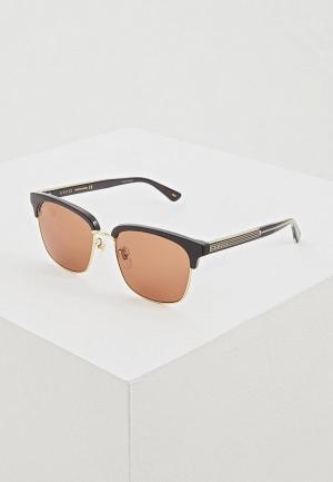 Очки солнцезащитные Gucci GG0382S002. Цвет: черный