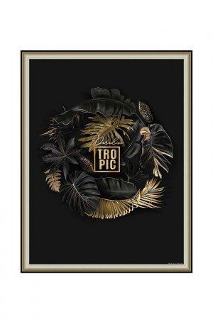 Картина-репродукция Декарт. Цвет: черный, золотой