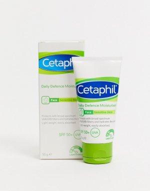 Ежедневное увлажняющее средство c SPF 50+ для чувствительной кожи : 50 г-Бесцветный Cetaphil