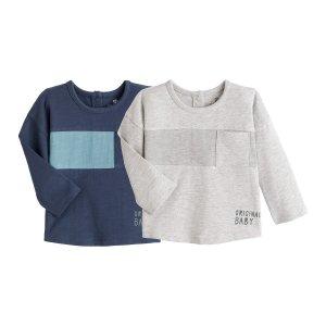 Комплект из 2 футболок с LaRedoute. Цвет: синий