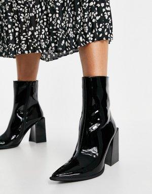 Черные ботильоны на каблуке Lasiren-Черный цвет Jeffrey Campbell