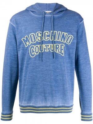Худи с логотипом Moschino. Цвет: синий