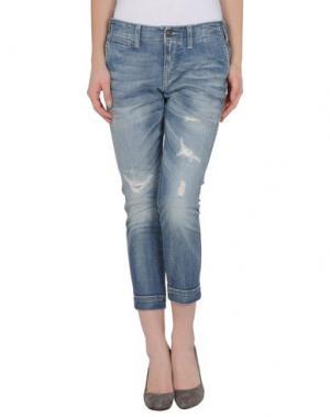 Джинсовые брюки-капри MELTIN POT. Цвет: синий