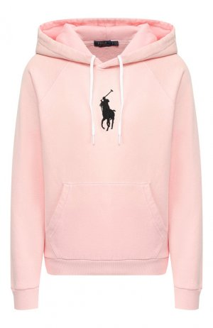 Хлопковое худи Polo Ralph Lauren. Цвет: розовый