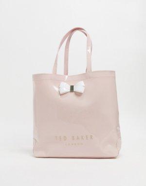 Большая сумка с декоративным бантом -Розовый Ted Baker