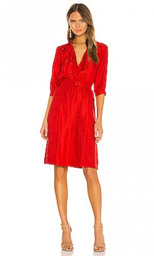 Платье миди marion A.P.C.. Цвет: красный