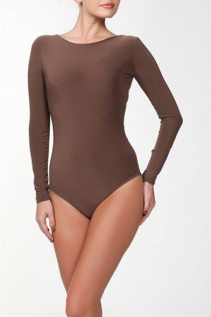 Боди IQ dress. Цвет: коричневый