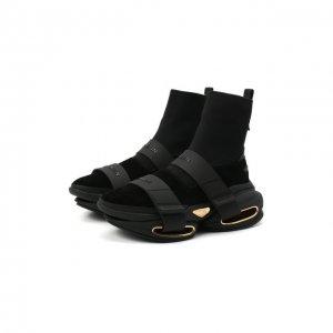 Текстильные кроссовки B-Bold Balmain. Цвет: чёрный