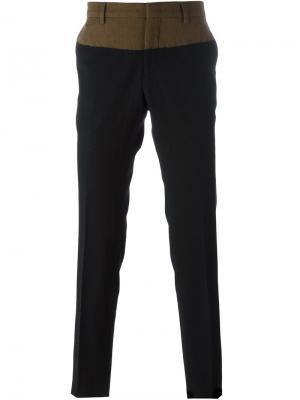 Классические брюки дизайна колор-блок Nº21. Цвет: чёрный