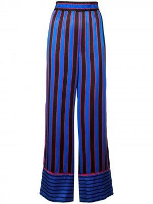 Пижамные брюки в полоску Alice+Olivia. Цвет: синий