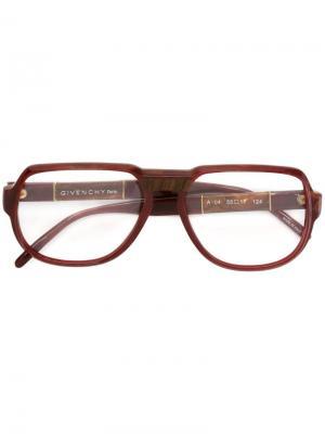 Очки в квадратной оправе Givenchy Vintage. Цвет: красный