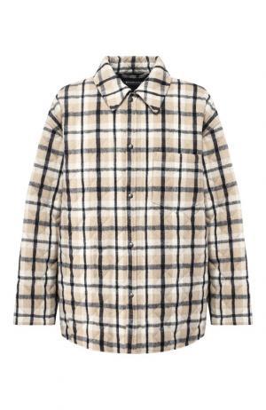 Куртка прямого кроя на кнопках с отложным воротником Balenciaga. Цвет: синий