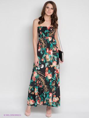 Платье DRS Deerose. Цвет: черный, зеленый, красный