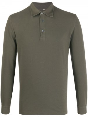 Long-sleeve polo shirt Ballantyne. Цвет: зеленый