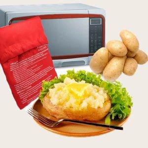 Запеченная сумка для картофеля в микроволновой печи 1шт SHEIN. Цвет: красный