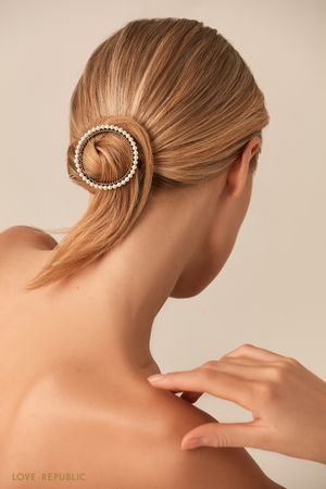 Заколка для волос с жемчужным декором по окружности LOVE REPUBLIC