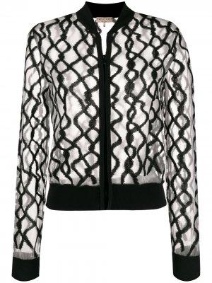 Полупрозрачная куртка-бомбер Emilio Pucci. Цвет: нейтральные цвета