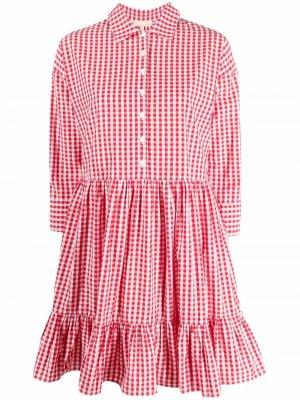 Платье в клетку byTiMo. Цвет: красный
