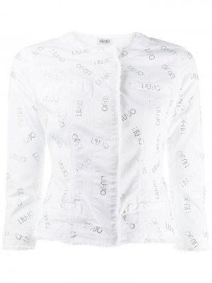 Приталенная джинсовая куртка Liu Jo. Цвет: белый